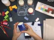 Enkaustika - návod: Sviečky maľované enkaustickým voskom