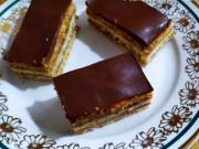 Žerbo rezy s orechami poliate čokoládovou polevou