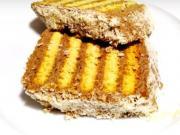Metrový nepečený koláč z maslových sušeniek