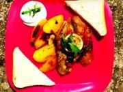 Grilovaná ryba na zelenine