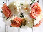 Kvetinový romantický veniec