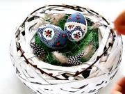 Nešiitý patchwork veľkonočné vajíčko