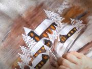 Maľovaný vankúš s vianočným motívom