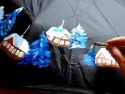 Maľovaný dáždnik