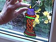 Maľujeme na sklo - Maľujeme farbami na sklo