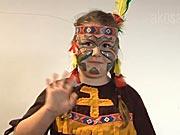 Indiánka - jak si připravit masku indiánky