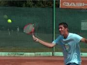 Tenisový úder  - volej - tenis