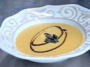 Tekvicová krémová polievka - recept na tekvicovú krémovu polievku  s cibuľkou