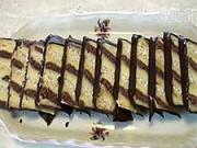 Metrový koláč - recept na dvojfarebný vanilkovo-čokoládový koláč s rumom