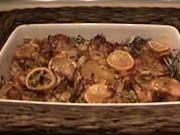 Pečené kura na zemiakoch s citrónom - recept na pečené kura