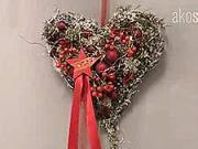 Vianočné srdce - ako si vyrobiť vianočnú ozdobu v tvare  vianočného srdca