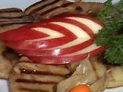 Grilovaná husacia pečeň  - recept na grilovanú husaciu pečeň s jablkami